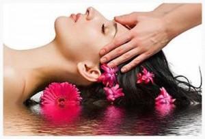 Visuel massage tête fleurs